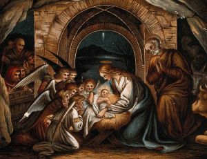 780px-Angels_pray_at_the_birth_of_Christ,_nativity_Wellcome_V0034629