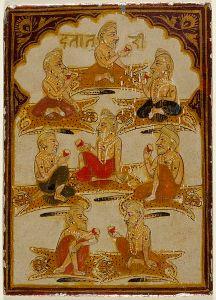 432px-Eight_Yogis,_Number_Eight_of_the_Ishana_Suit,_Playing_Card_from_a_32-Suit_Dashavatara_(Ten_Avatars)_Ganjifa_Set_LACMA_M.73.55.5